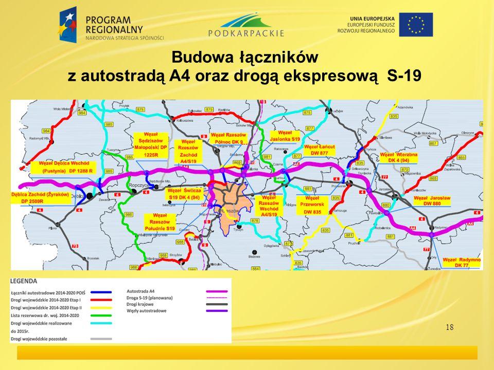 Budowa łączników z autostradą A4 oraz drogą ekspresową S-19