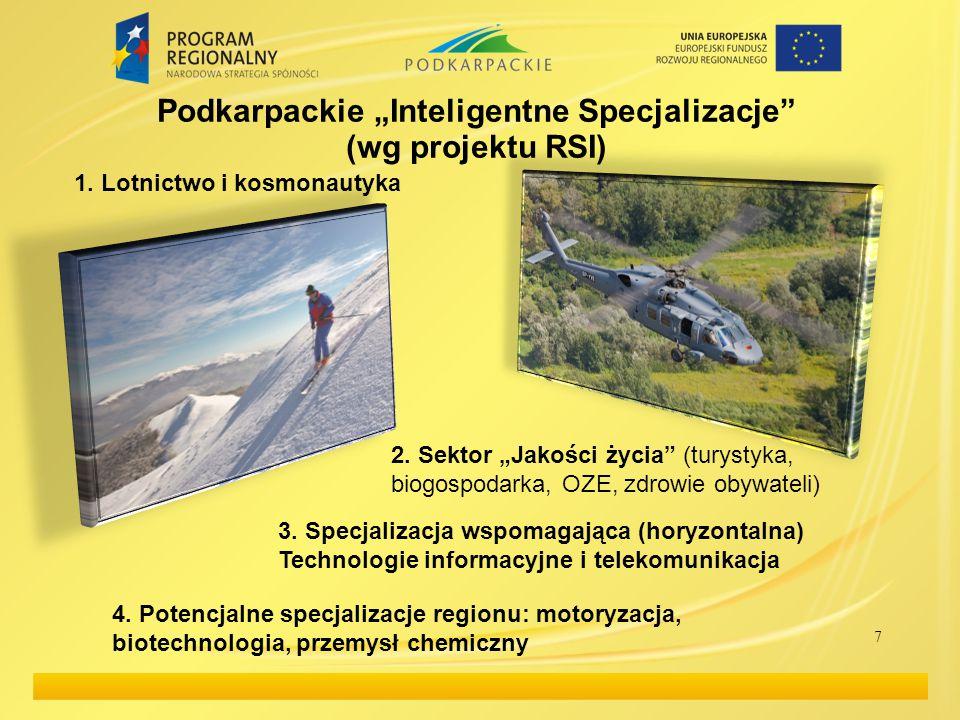 "Podkarpackie ""Inteligentne Specjalizacje (wg projektu RSI)"