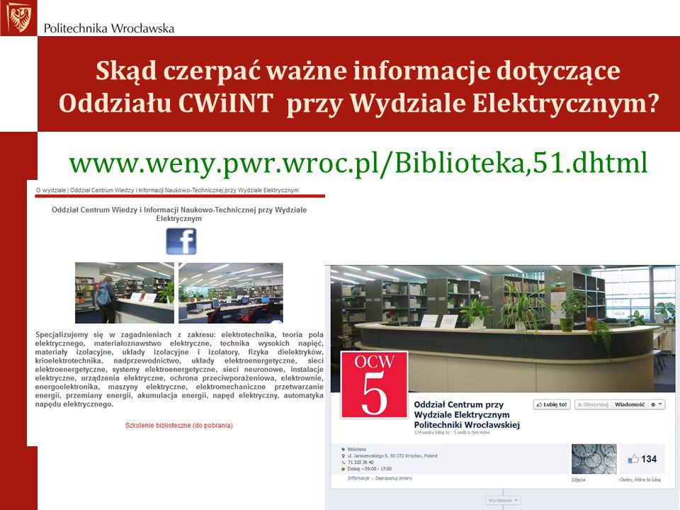 Skąd czerpać ważne informacje dotyczące Oddziału CWiINT przy Wydziale Elektrycznym