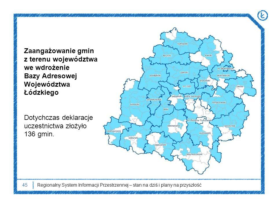 Zaangażowanie gmin z terenu województwa we wdrożenie
