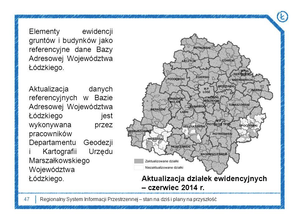 Aktualizacja działek ewidencyjnych – czerwiec 2014 r.
