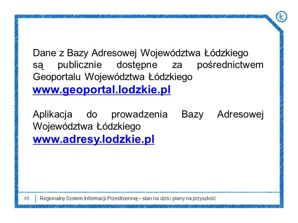 Dane z Bazy Adresowej Województwa Łódzkiego