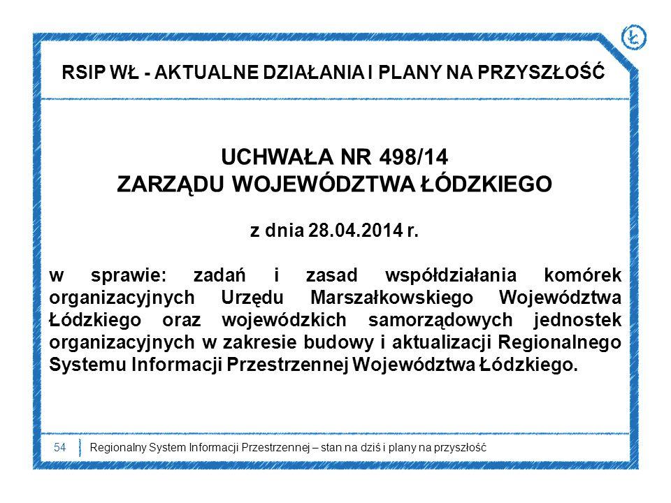 UCHWAŁA NR 498/14 ZARZĄDU WOJEWÓDZTWA ŁÓDZKIEGO z dnia 28.04.2014 r.