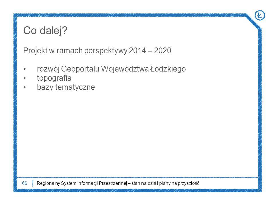 Co dalej Projekt w ramach perspektywy 2014 – 2020