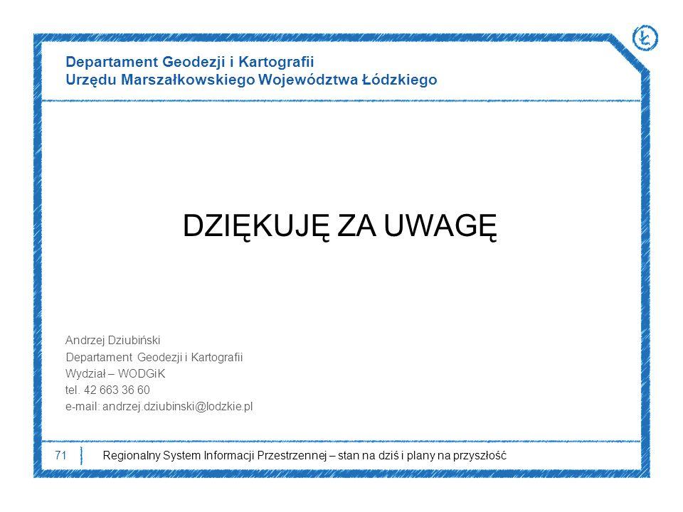 Departament Geodezji i Kartografii Urzędu Marszałkowskiego Województwa Łódzkiego