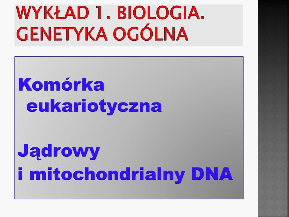 Wykład 1. Biologia. Genetyka ogólna
