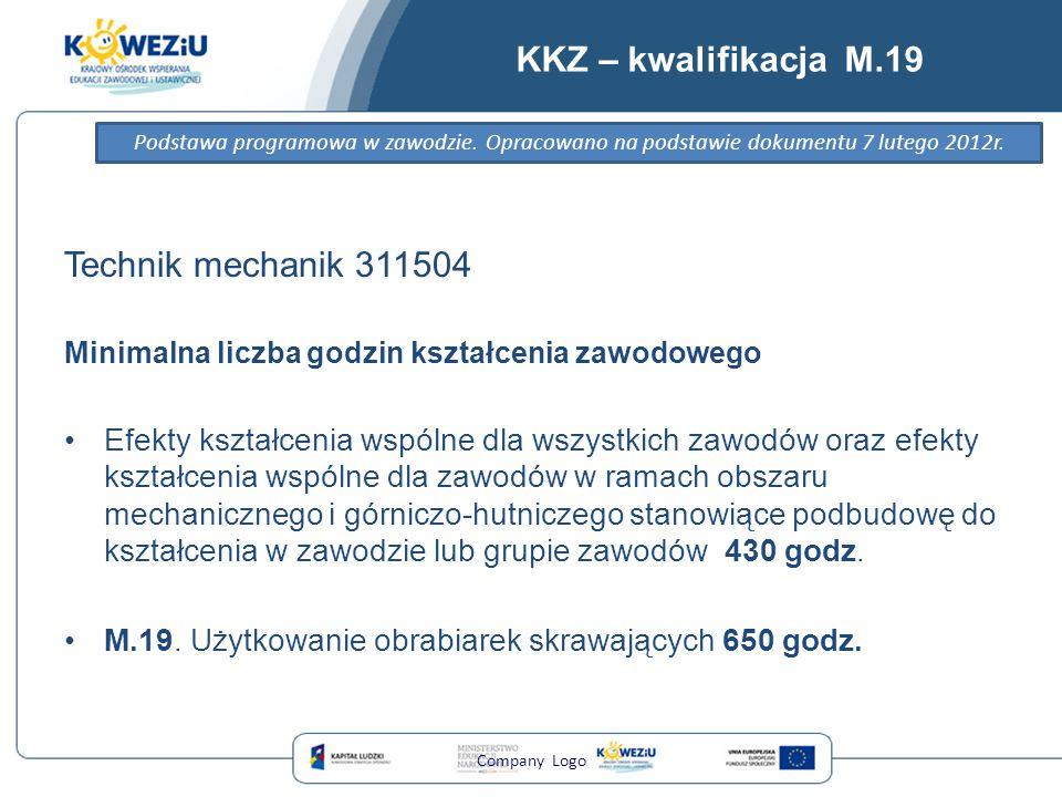KKZ – kwalifikacja M.19 Technik mechanik 311504