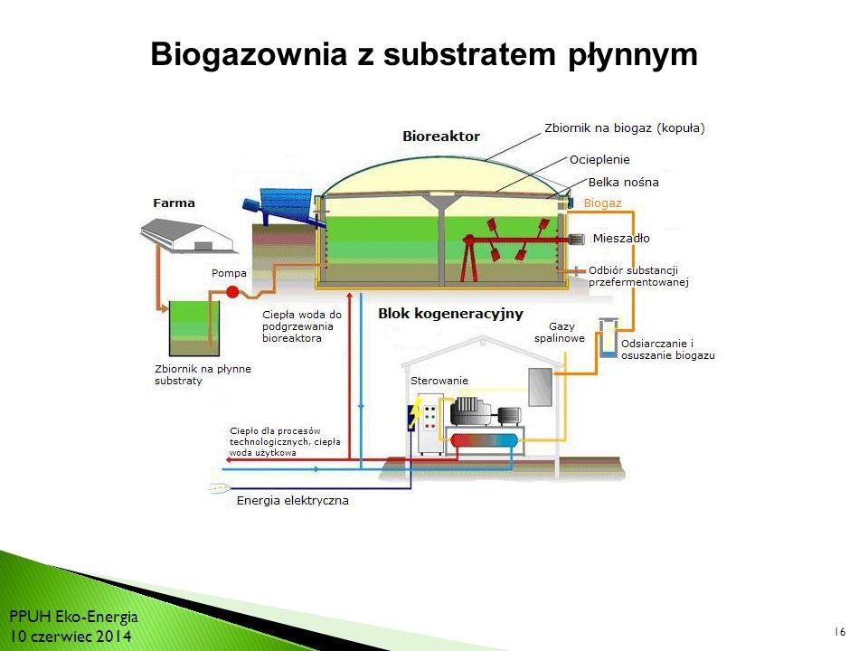 Biogazownia z substratem płynnym