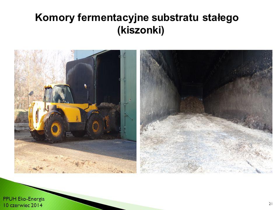 Komory fermentacyjne substratu stałego (kiszonki)