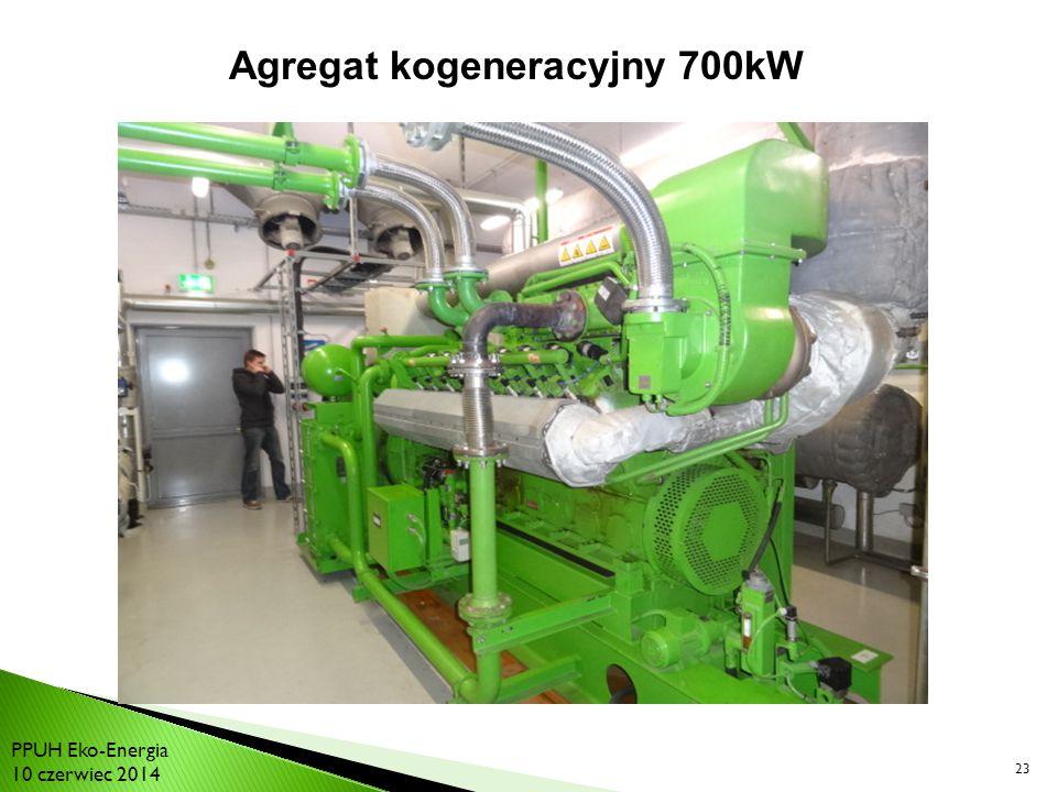 Agregat kogeneracyjny 700kW