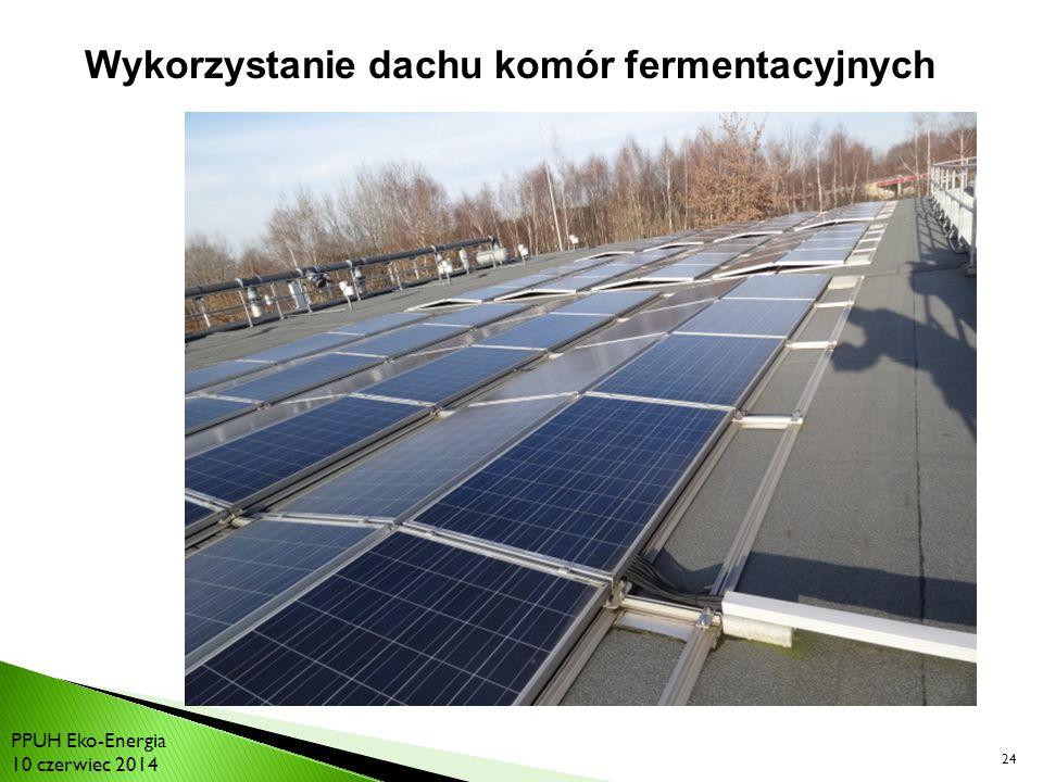 Wykorzystanie dachu komór fermentacyjnych