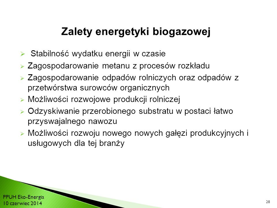 Zalety energetyki biogazowej
