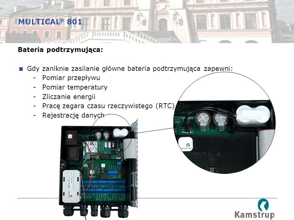 MULTICAL 801 Bateria podtrzymująca:
