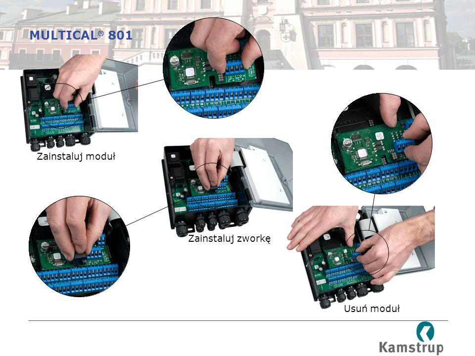 MULTICAL 801 Zainstaluj moduł Zainstaluj zworkę Usuń moduł