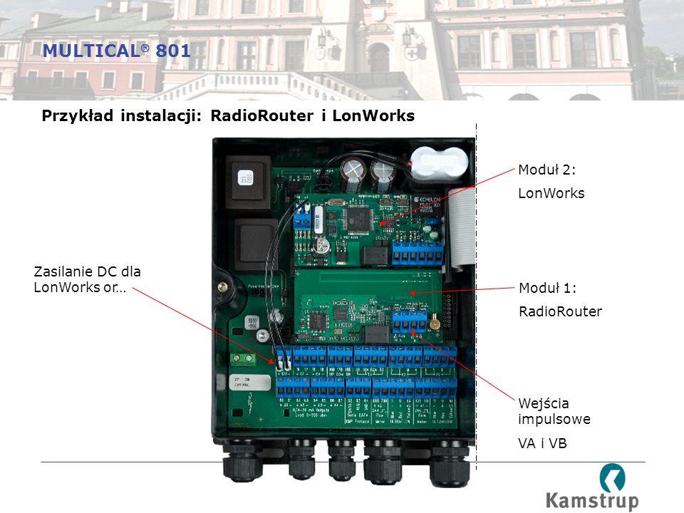 MULTICAL 801 Przykład instalacji: RadioRouter i LonWorks Moduł 2: