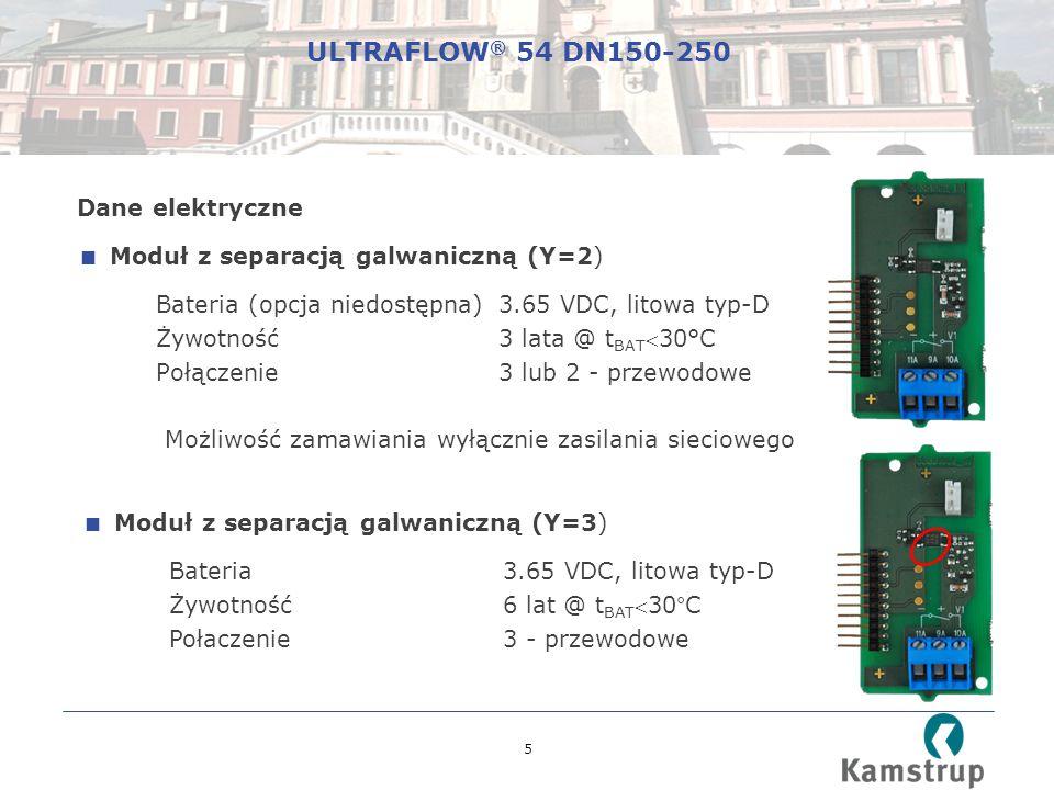 ULTRAFLOW® 54 DN150-250 Dane elektryczne