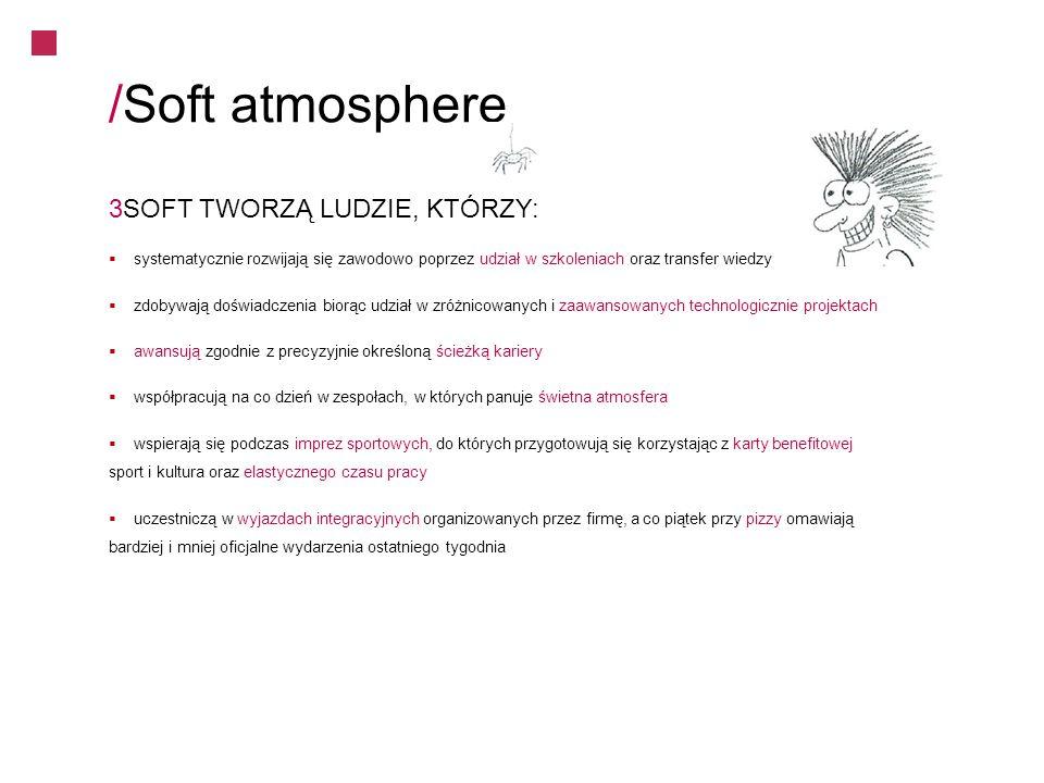 /Soft atmosphere 3SOFT TWORZĄ LUDZIE, KTÓRZY:
