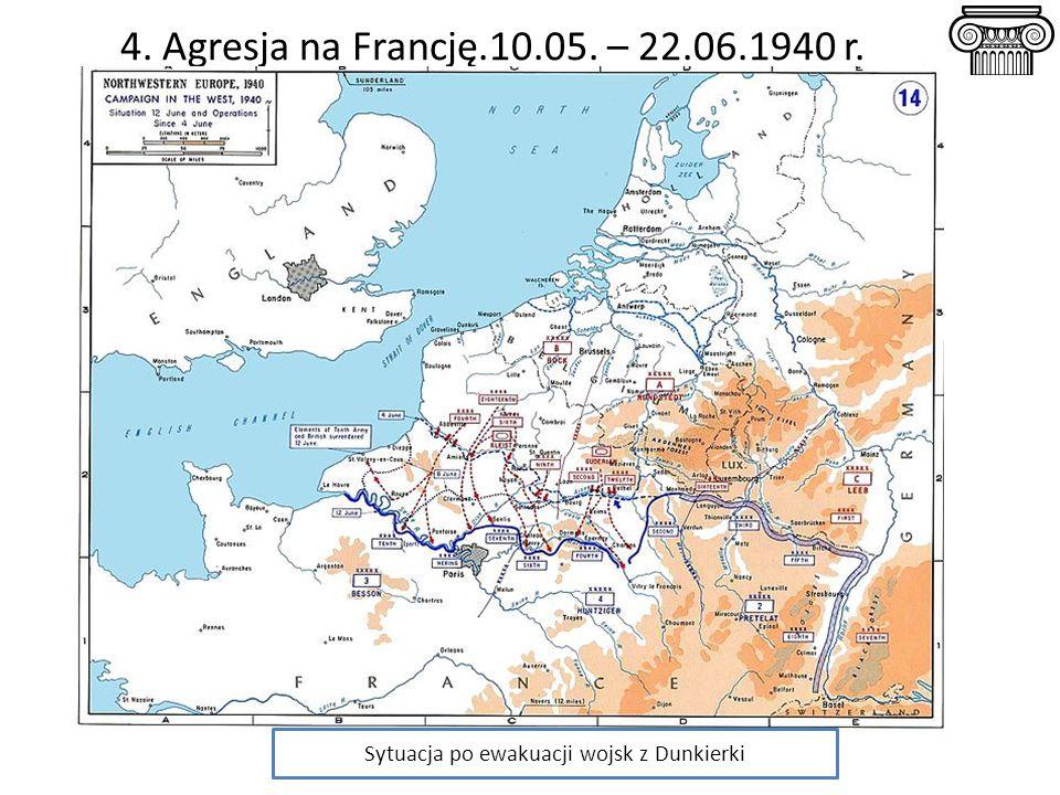 Sytuacja po ewakuacji wojsk z Dunkierki
