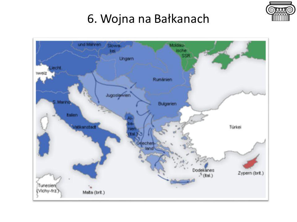 6. Wojna na Bałkanach