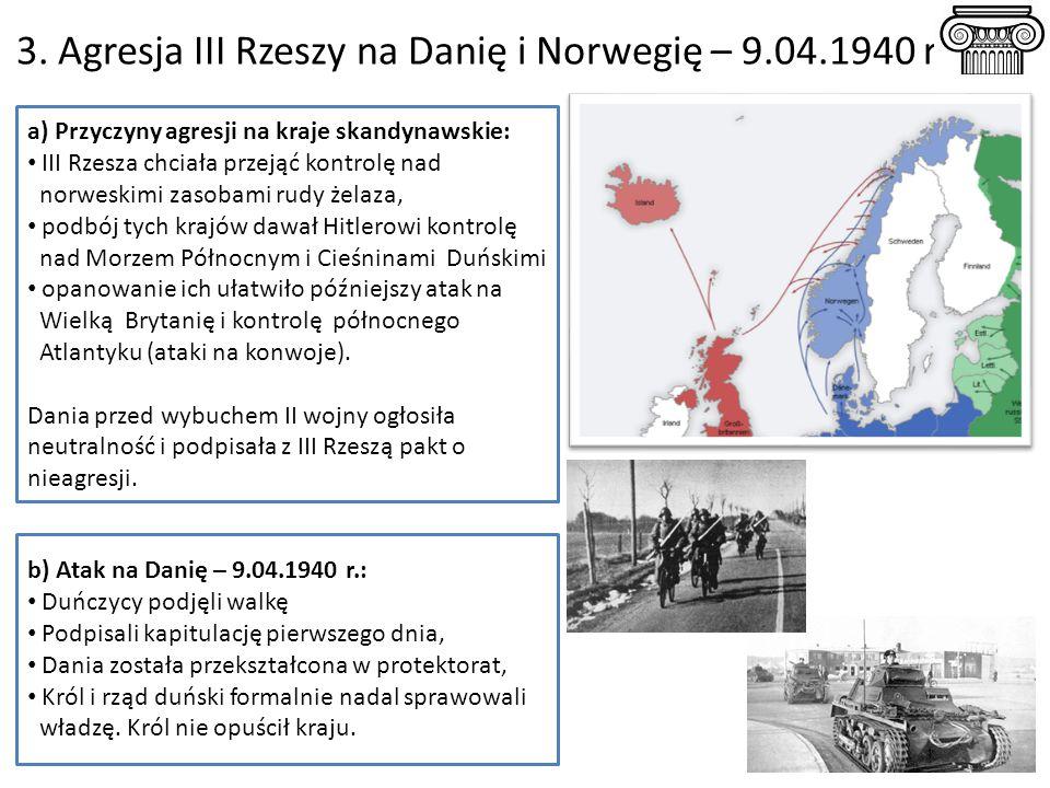 3. Agresja III Rzeszy na Danię i Norwegię – 9.04.1940 r.