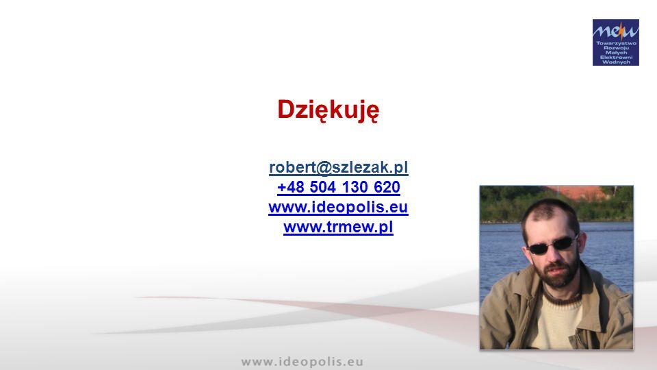 Dziękuję robert@szlezak.pl +48 504 130 620 www.ideopolis.eu
