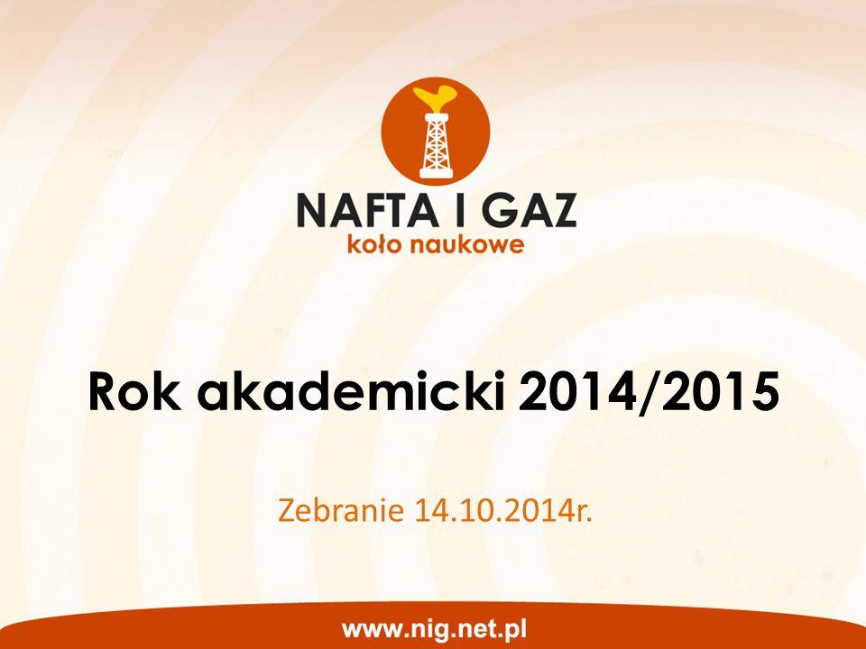 Rok akademicki 2014/2015 Zebranie 14.10.2014r.