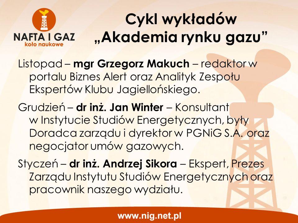 """Cykl wykładów """"Akademia rynku gazu"""