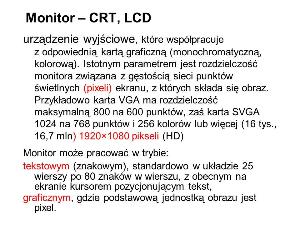 Monitor – CRT, LCD