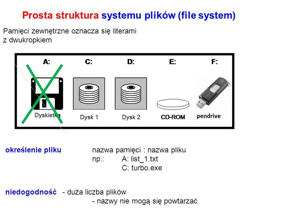 Prosta struktura systemu plików (file system)