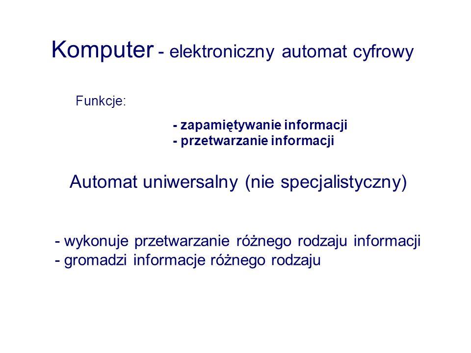 Komputer - elektroniczny automat cyfrowy