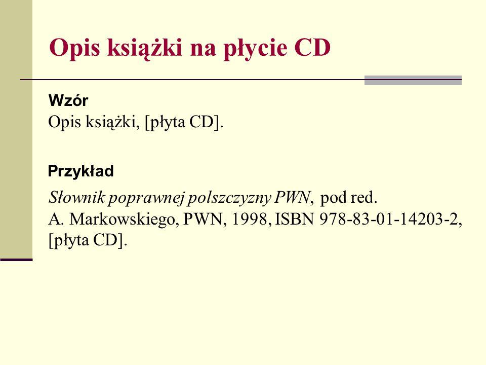Opis książki na płycie CD