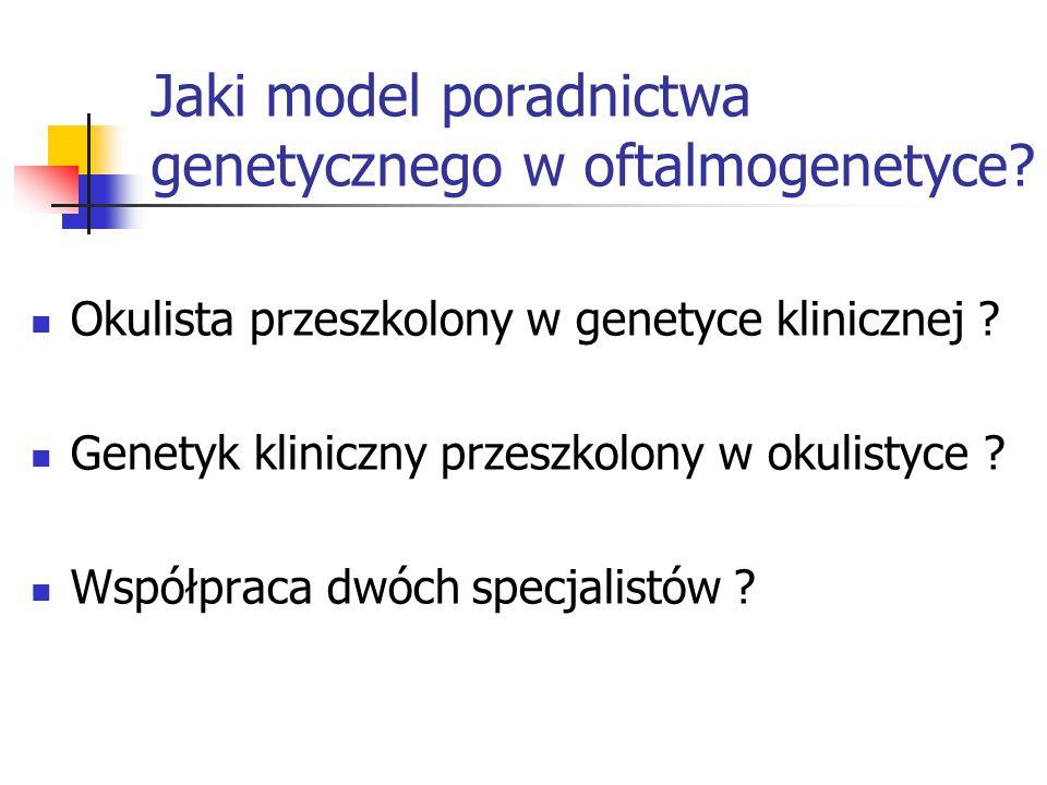 Jaki model poradnictwa genetycznego w oftalmogenetyce