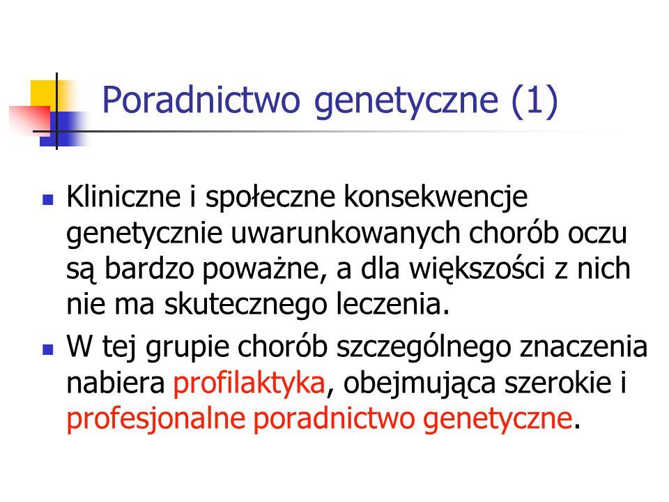 Poradnictwo genetyczne (1)