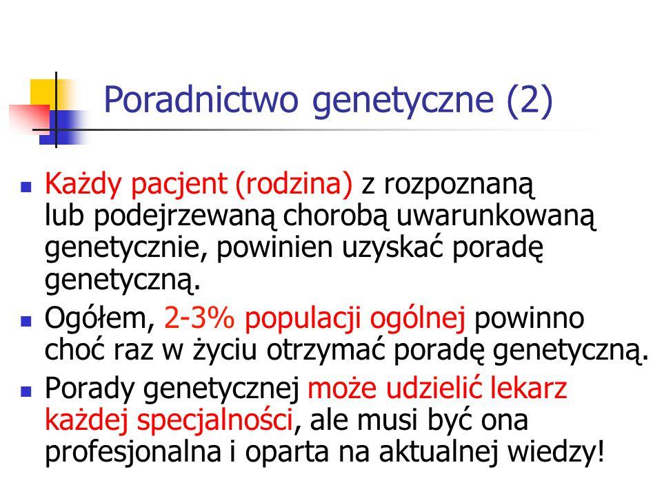 Poradnictwo genetyczne (2)