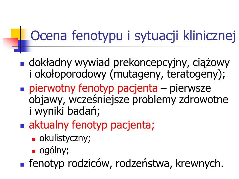 Ocena fenotypu i sytuacji klinicznej