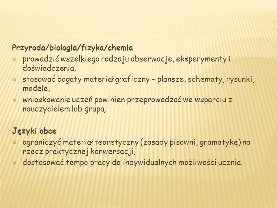 Przyroda/biologia/fizyka/chemia
