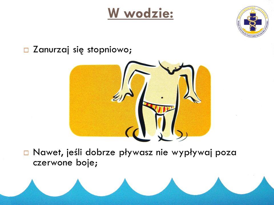 W wodzie: Zanurzaj się stopniowo;