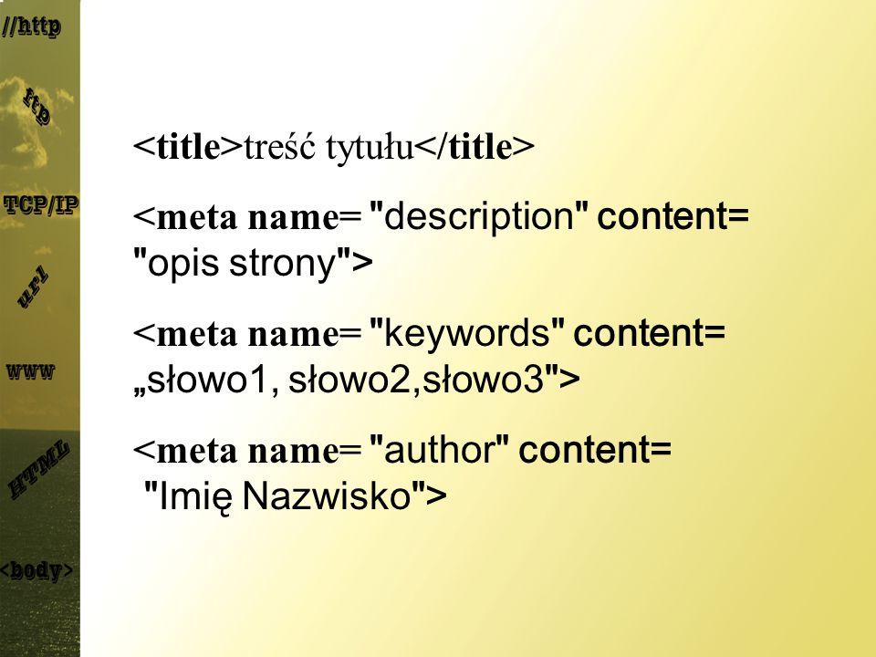 <title>treść tytułu</title>