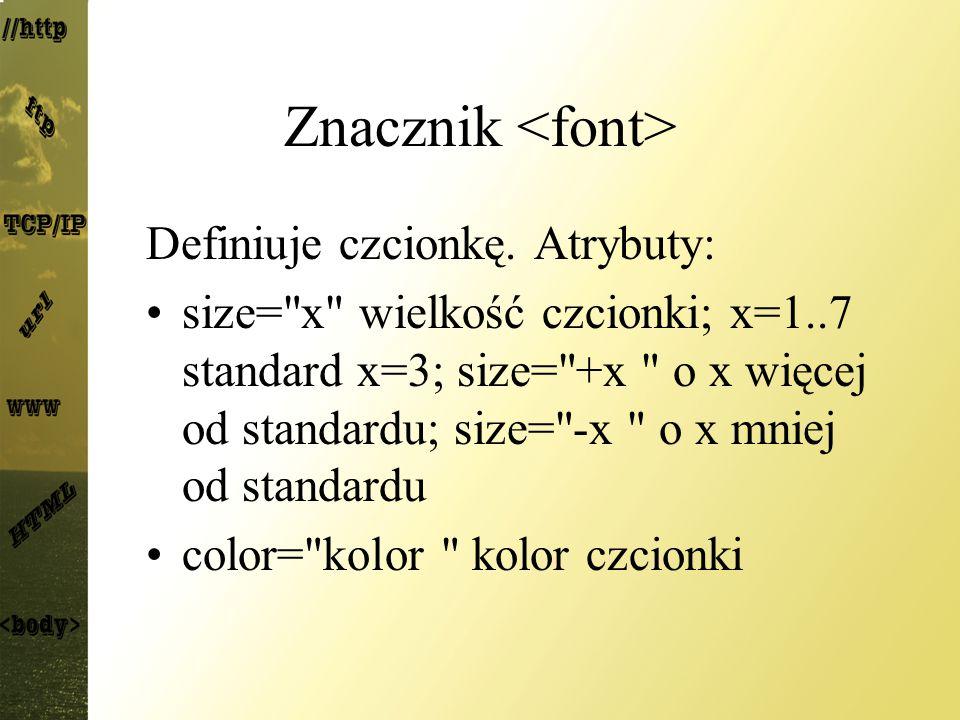 Znacznik <font>