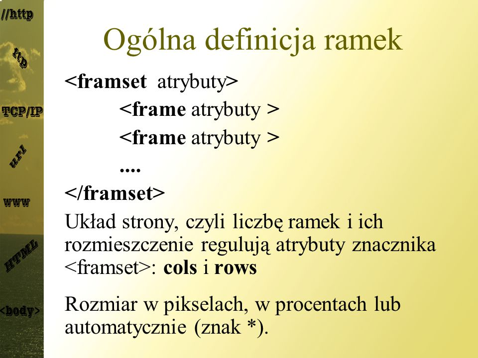 Ogólna definicja ramek