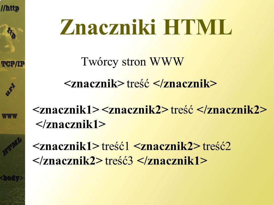Znaczniki HTML Twórcy stron WWW