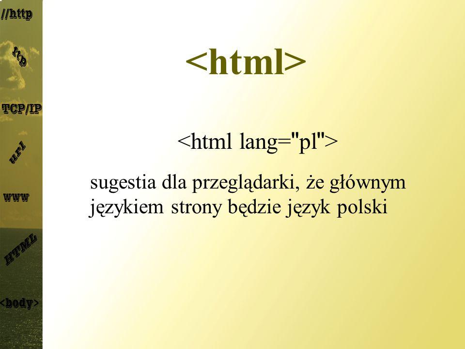 <html> <html lang= pl >