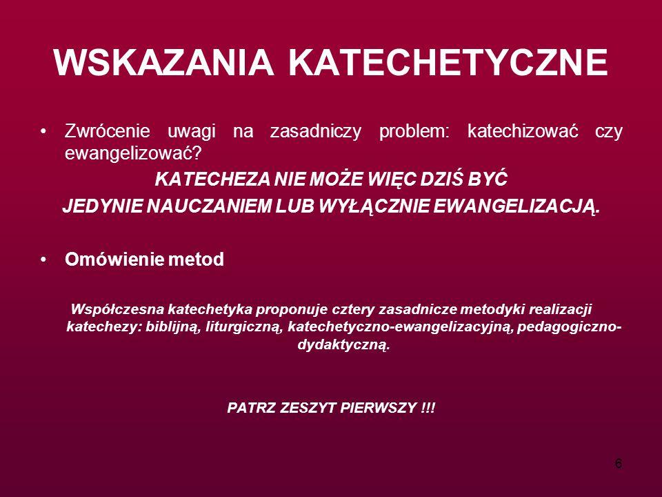 WSKAZANIA KATECHETYCZNE