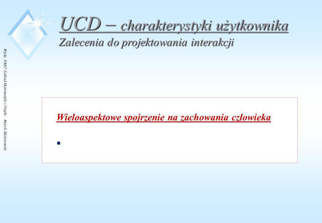 UCD – charakterystyki użytkownika