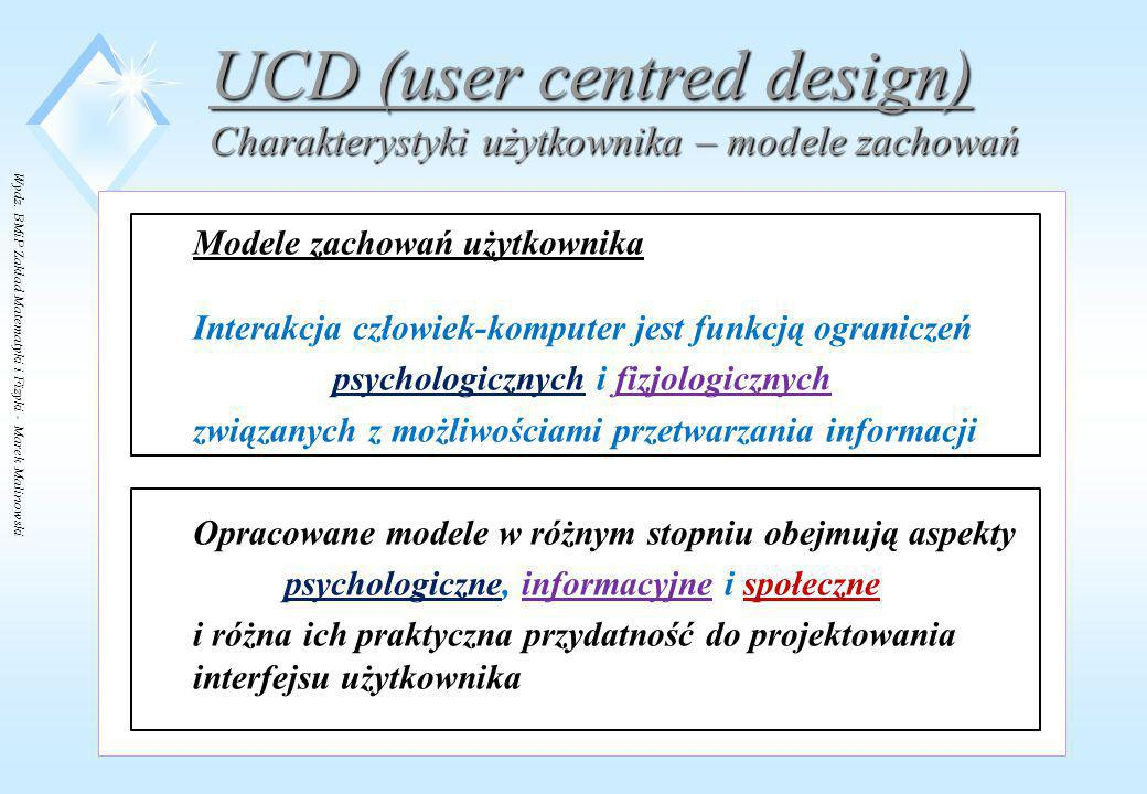 UCD (user centred design)