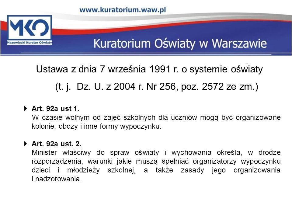 Ustawa z dnia 7 września 1991 r. o systemie oświaty (t. j. Dz. U
