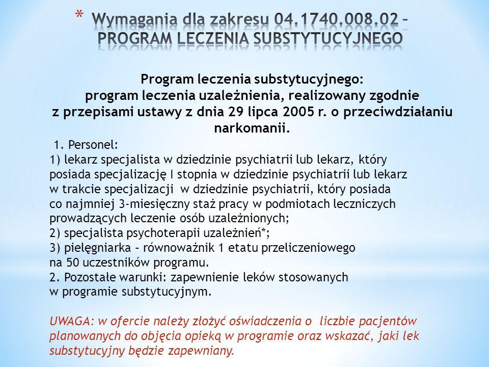 Program leczenia substytucyjnego: