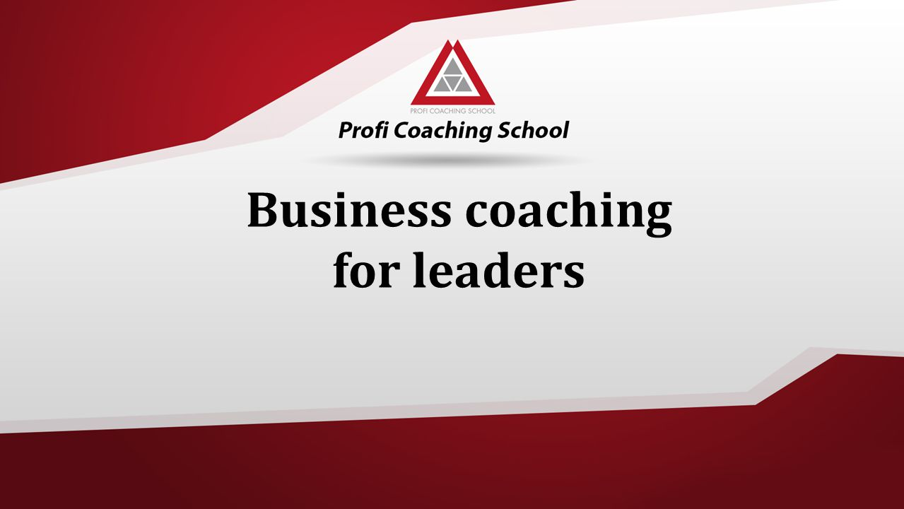 Business coaching for leaders