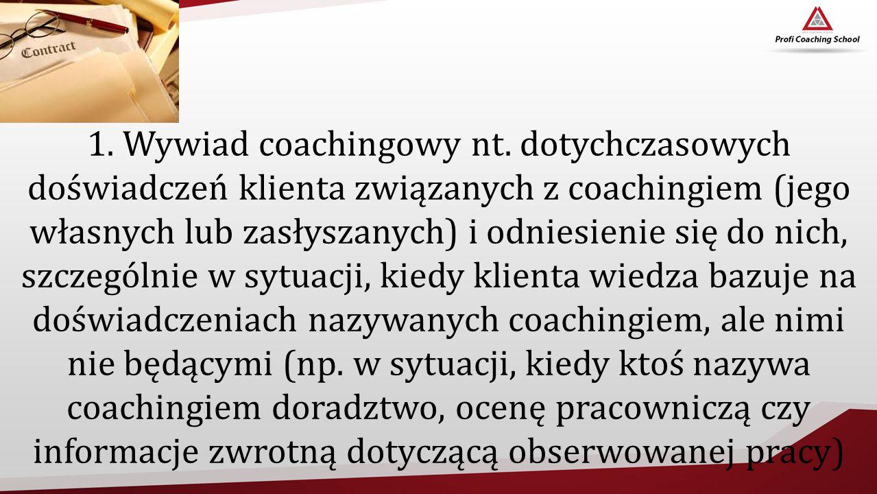 1. Wywiad coachingowy nt.