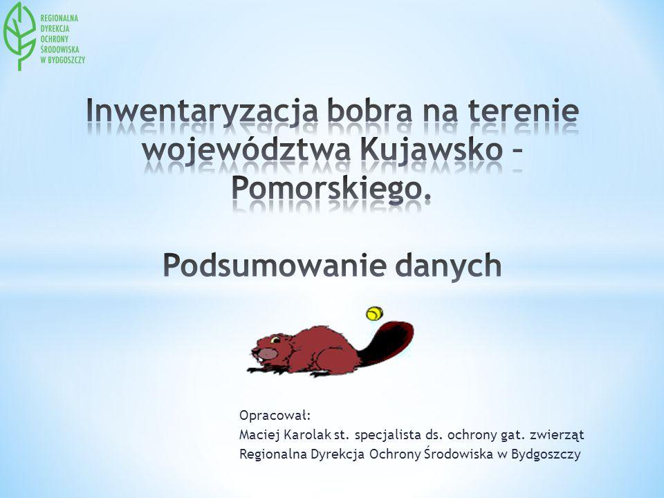 Inwentaryzacja bobra na terenie województwa Kujawsko – Pomorskiego
